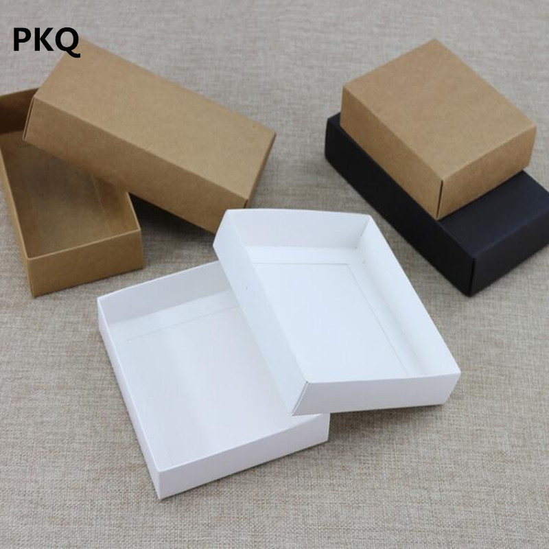200pcs Kraft paper gift Cardboard Box craft Packaging box black Paper Gift box with lid Gift