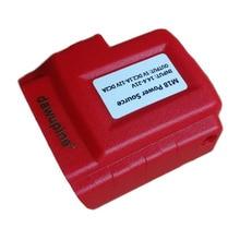 Dawupine USB Мощность разъем для Милуоки 18 V Батарея M18 2Ah 3Ah 4.5Ah 5Ah 6Ah зарядного устройства USB адаптер