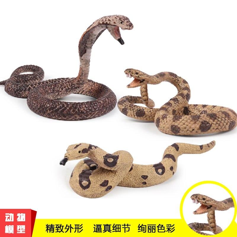 Toy Cobra Snake Wild Animal Solid-Model Simulation-Static Child Big