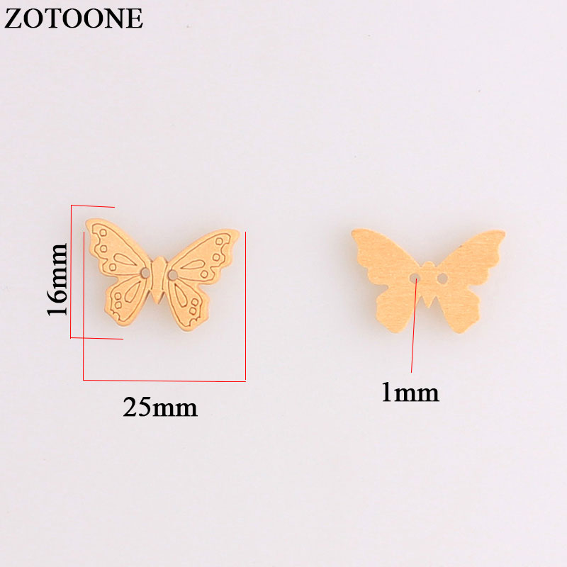 ZOTOONE Butterfly Wooden Buttons Sewing Buttons For Scrapbooking Crafts Needlework Wood Button Home Decoration Accessories DIY A in Buttons from Home Garden