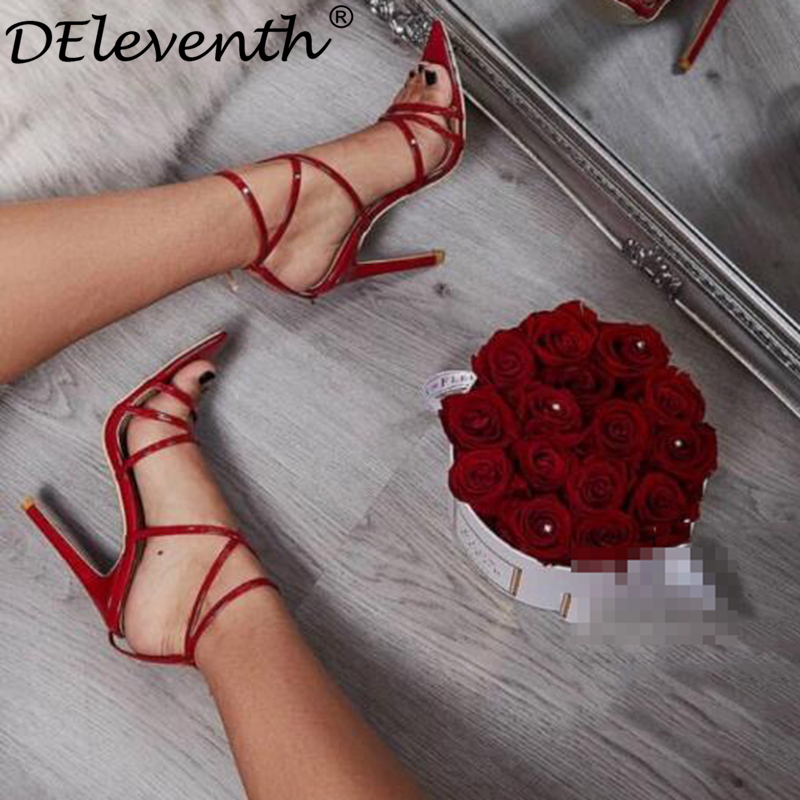 DEleventh New Brand Fashion Pointed Toe Stiletto High Heels Sandals Woman Party Wedding Shoes Red SIMMI INS lILLY Yellow EUR 43 deleventh classics sexy women red wedding shoes peep toe stiletto high heels shoes woman sandals black red nude big size 43 us10