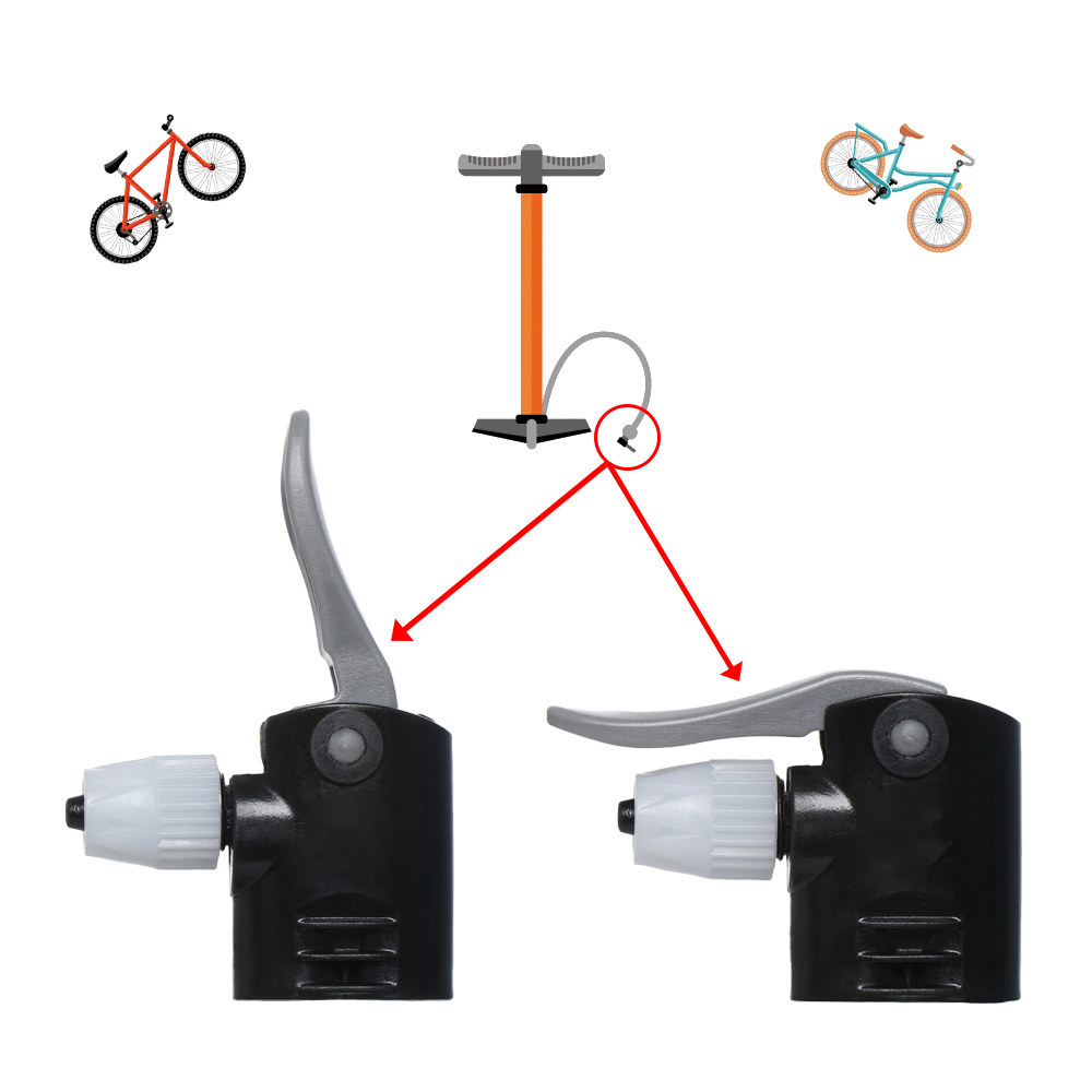 Bicycle Pump Nzle Hose Adapter Dual Head Pumping Parts Service AccessoriesRIB