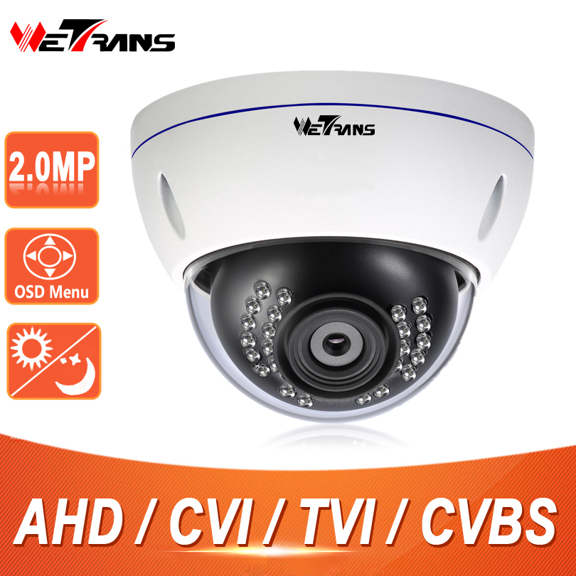 1080P AHD/TVI/CVI/CVBS 4 in 1 Camera with IR CUT, OSD HD 2.8-12 mm manual lens Metal IR Vandalproof Dome Camera TR-X20BD117 2mp 1080p surveillance ptz ir speed dome camera 10x optical zoom cvi ahd tvi cvbs osd menu transfer hd coaxial control rs485
