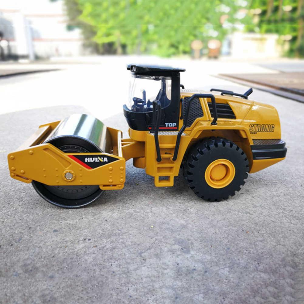 1/50 Skala Mainan Mobil Ambil Model Tipe Roda Loader Alloy Diecast Roller Jalan Konstruksi Truk Model Pendidikan Anak-anak Mobil Mainan