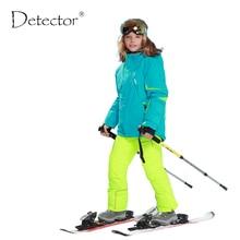 Heißer Verkauf Jungen Mädchen Wasserdichte 5000 Schnee Kinder Ski Jacke Sport Kinder Outdoor Mantel 6-16 Jahre Mit Abnehmbaren mit kapuze Winddicht