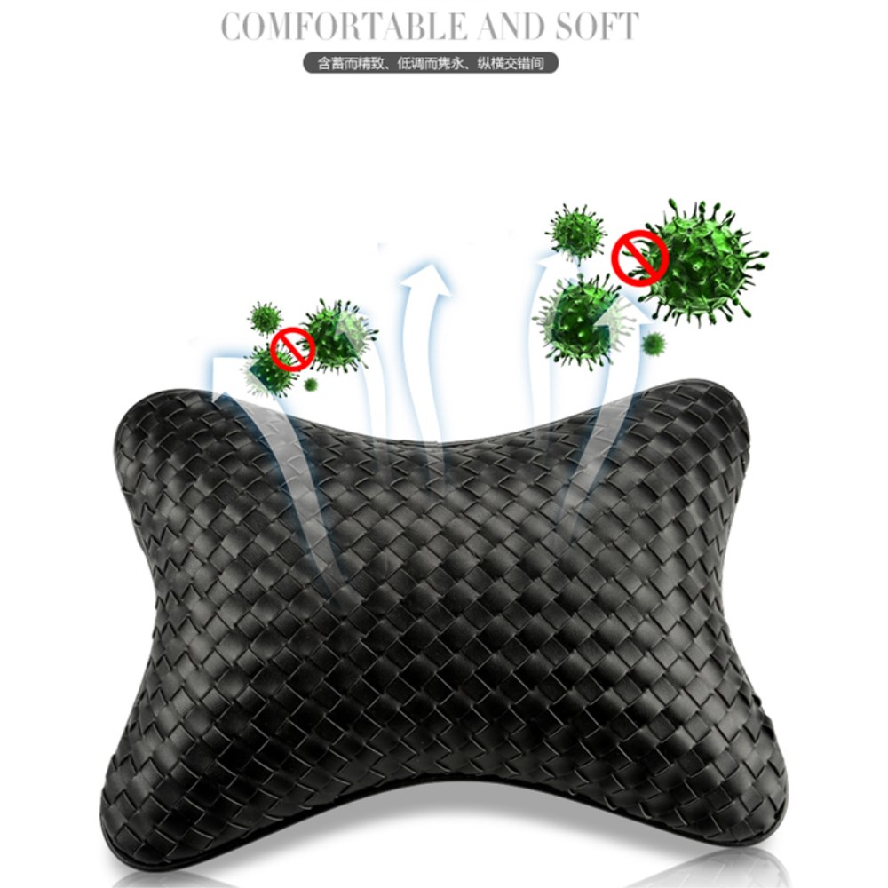 LUCKY 2019 New arrival neck pillow leather single head pillow for most vehicles filled with fibre general purpose pillow in Neck Pillow from Automobiles Motorcycles