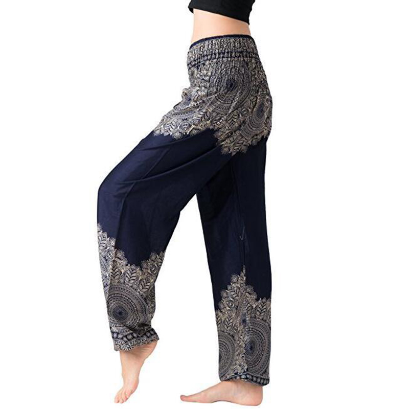 738d82f744 New Boho Women Lantern Pants Comfy Indie Folk Harem Pants Boho Baggy Hippie  Elastic Waist Female