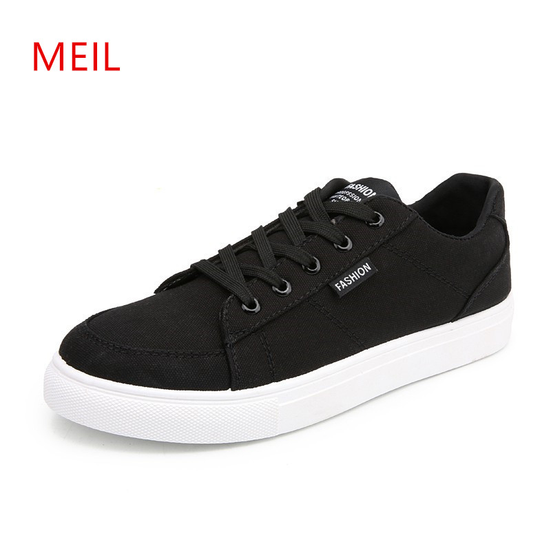 White Black Red Mens Casual Shoes Men Casual Canvas Shoes for Men Breathable Fashion Sneakers Men Footwear 2018 Male Shoes