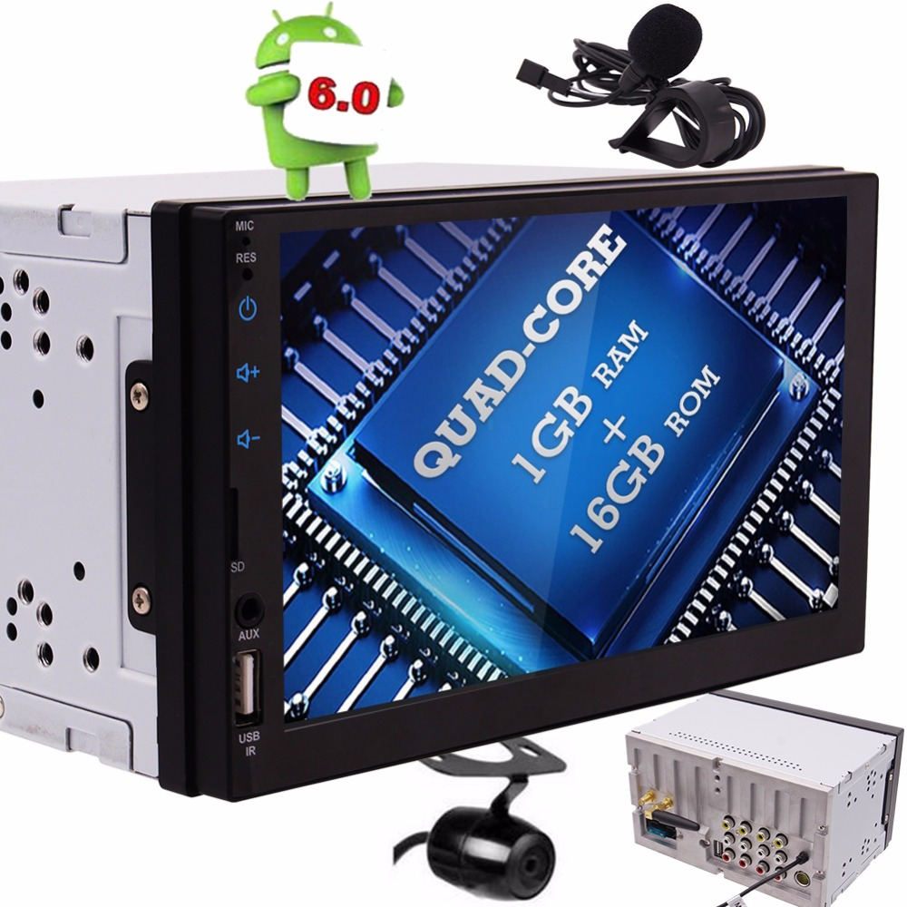 2 Din 7 Autoradio Android 6 0 font b GPS b font Stereo Car Video Audio
