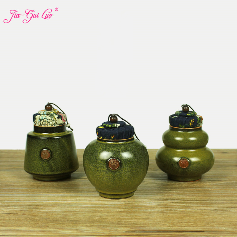 JIA-GUI LUO Japanese-style Ceramic Tea Box Ceramic Jar Tea Storage Box Tea Container Kitchen Canisters Canister Set D123