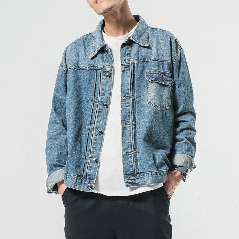 Automne En Coréen Veste Difficulté Manteau Bleu Denim Casual Marque Mens Hop Designer Jeans Vintage Ledingsen Coton Hip Vinage wzpqfx