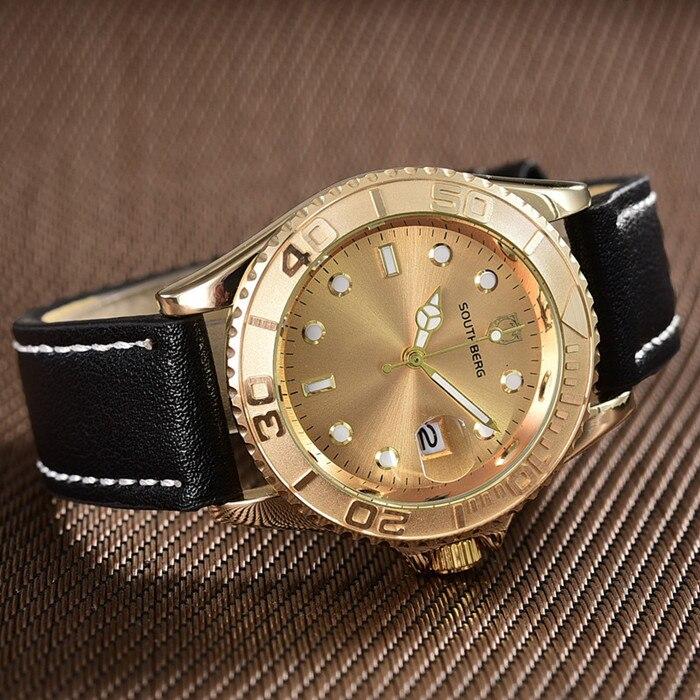 Relógio de Quartzo dos Homens Marca de Luxo Relógio dos Homens de Negócios Relógio de Pulso Southberg Papel Moda Relógios Relógio Masculino Hodinky Top