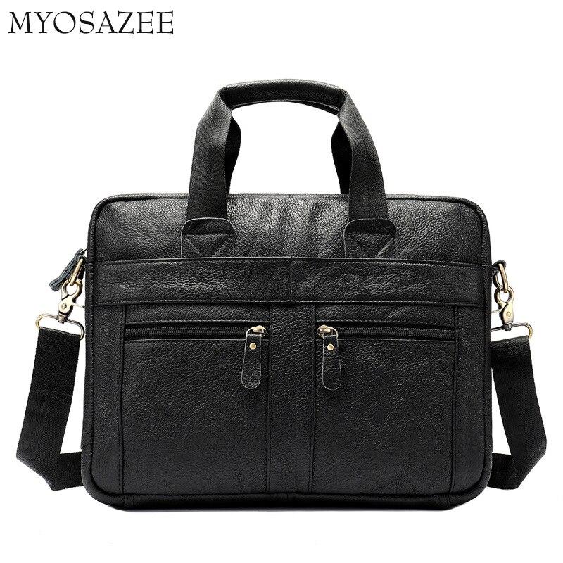 Business Leather Men's Bag Recreational One-shoulder Slanting Head Cover Cowhide Briefcase Men's Bag