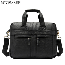 Business Leather Mens Bag Recreational One-shoulder Slanting Head Cover Cowhide Briefcase