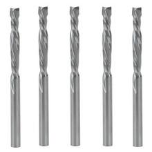 5 PCS 3,175x22mm UP & DOWN Cut Zwei Flöten Spirale Hartmetall Mühle Werkzeug Schneider für CNC Router, kompression Holz Ende Mühle Cutter Bits