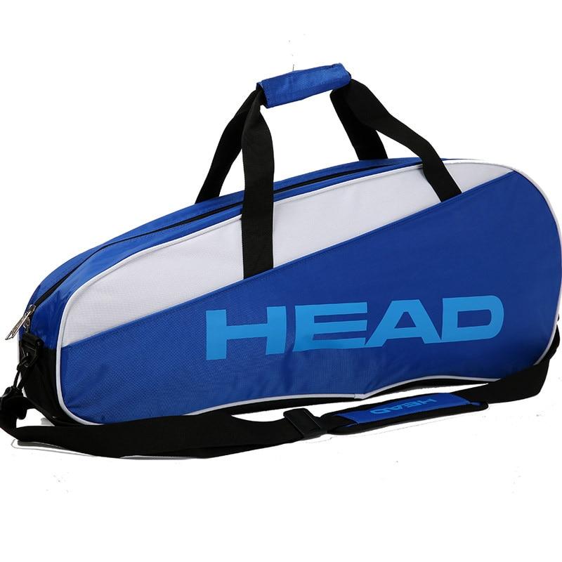 New Professional Training Sport Big Capacity Bag Shoulder Bag For Badminton Tennis Rackets Gym Men Women 72x18x27cm Shoes