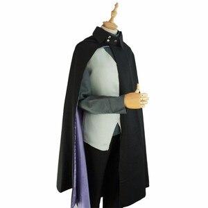 Image 2 - Anime BORUTO NARUTO THE MOVIE Uchiha Sasuke Cloak Suit Naruto Cosplay Costume Women Men Halloween Party Full Set Uniform Suit