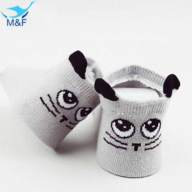 2018 New Design Infant Socks Baby New Born Boy and Girl Casual Sock Spring Cute Anti Slip Cotton Baby Short Kids Socks