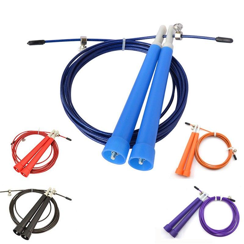 Ayarlanabilir atlanıyor halat 3 Metre Metal Rulman atlanıyor halat/Hız Kablo Jump Rope MMA Kutusu ev Jimnastik Salonu Fitnesss Ekipmanları