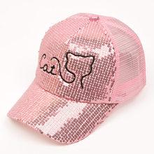 6ec2e07bff9 New Fashion Style Hot Sequins Hats Kids Snapback Baseball Cap Funny Net  Beach Hats Spring Summer
