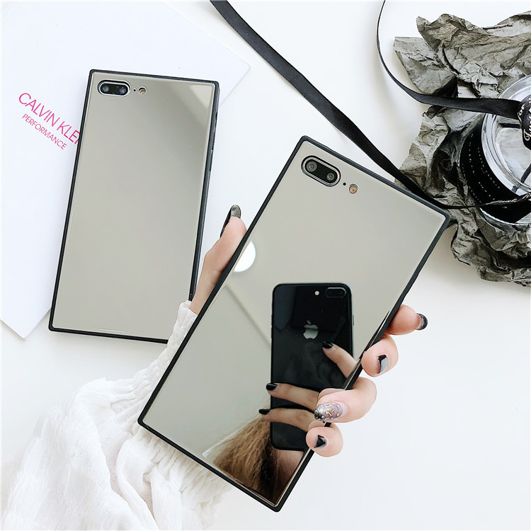Makeup Selfie Mirror glass phone case for iphone xs max