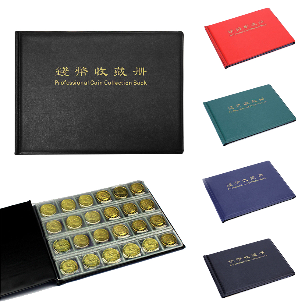 New Solid Color Transparent Grid Coin Penny Money  Versatile Practical Collection Book 240 Album Collecting Folder Holder