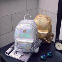 Бесплатная доставка Новый Европейской и Американской моды Творческий лазерная Лакированная кожа Зеркало личность путешествия Торговый Отдых backpac