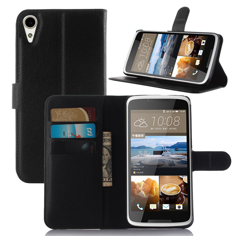 For HTC Desire 828 Case Cover HTC 828 PU Leather Flip Wallet Case for HTC Desire 828 Phone Coque with Stand