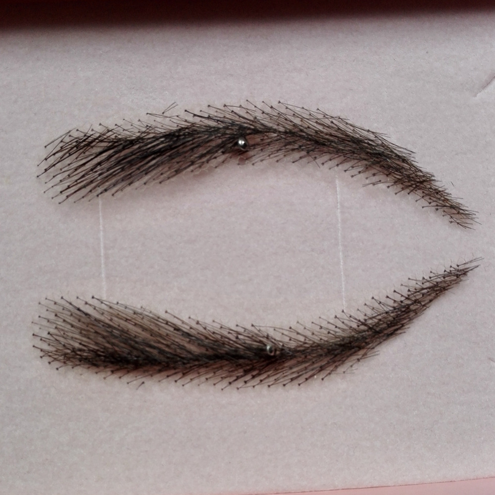 sobrancelha falsa 013 cor marrom claro artesanal