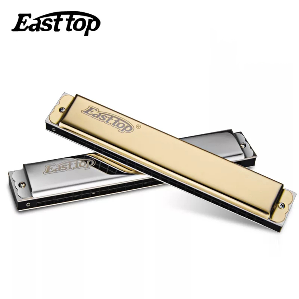 Easttop Tremolo 24 Holes Harmonica Professional Mouth Organ harp Instrumentos Key C ABS Comb Musical Instruments East Top T2403