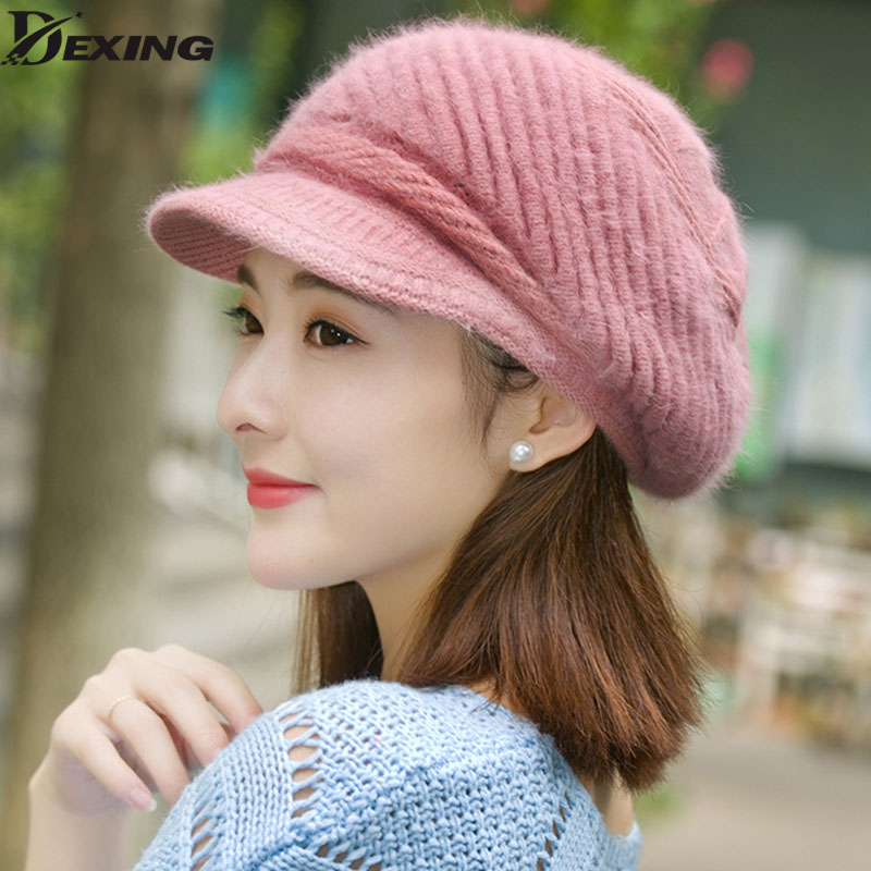 beautiful women winter Rabbit fur hat cap middle-aged mother Caps Lady warm Skullies  Beanies Winter fashion Wool  Hats female princess hat skullies new winter warm hat wool leather hat rabbit hair hat fashion cap fpc018
