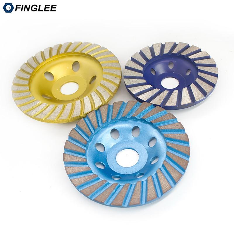 FINGLEE 1Pc 100/115/125mm Spiral-type Segment Diamond Wheel Disc Bowl Grinding Cup Concrete Granite Marble Polishing Pads