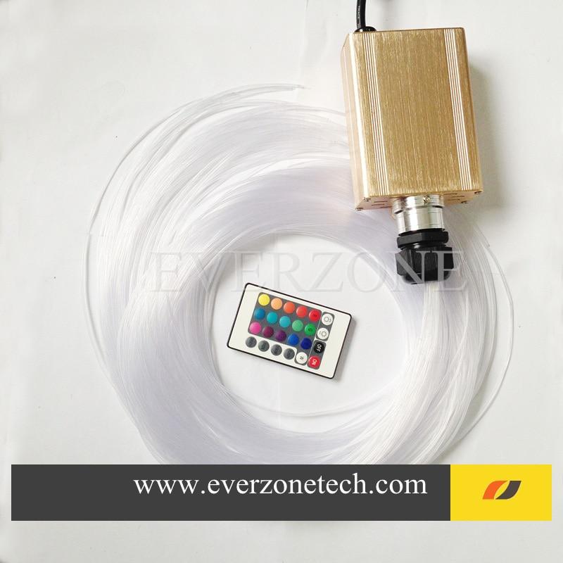 ФОТО FY16W-750-004 Colorful LED Fiber Optic Light Bundle 60pcs 2m Side Light Pointed Fiber Optic Cable with RGB Remote Controller