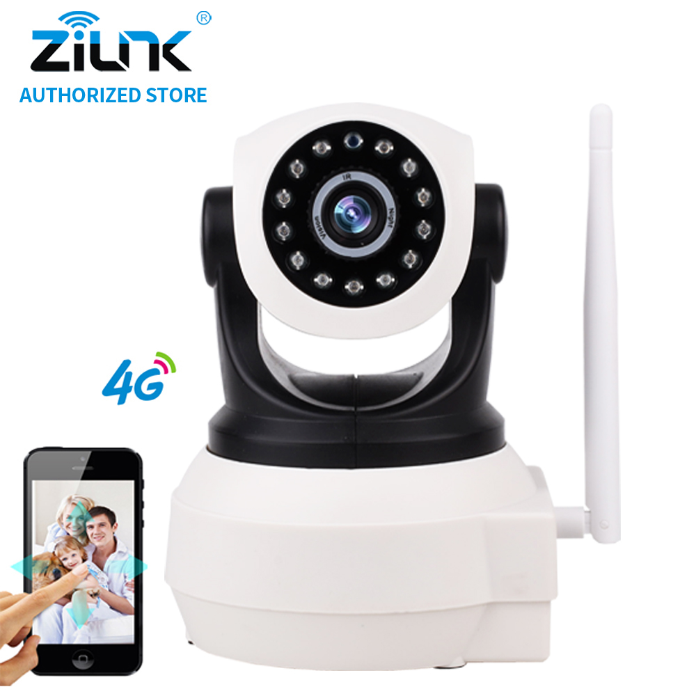 ZILNK NEW 720P 4G SIM Card IP Camera 1.0Megapixel HD P2P Network PT Wireless Two Way Audio  IR Night Vision SD Card Indoor White easyn a115 hd 720p h 264 cmos infrared mini cam two way audio wireless indoor ip camera with sd card slot ir cut night vision