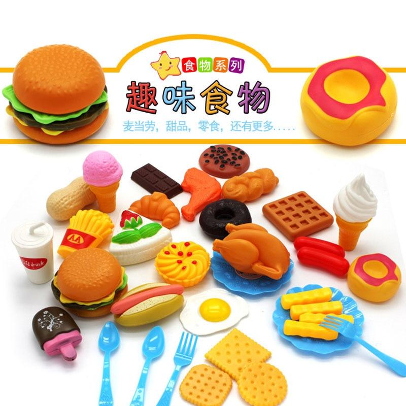 Brilliant Kids Pretend Play Miniature Fun Kitchen Plastic Food Birthday Cake Funny Birthday Cards Online Inifodamsfinfo