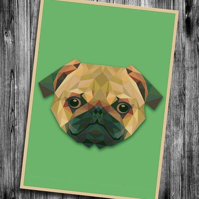 Leuke Hond vintage poster retro kraftpapier versiering film posters ...