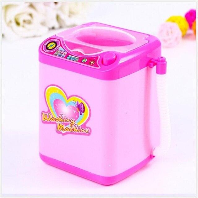 Мини набор косметики щетка Очищающая электрическая розовая стиральная машина игрушки ролевые игры Детские игрушки Детская мебель игрушки ...