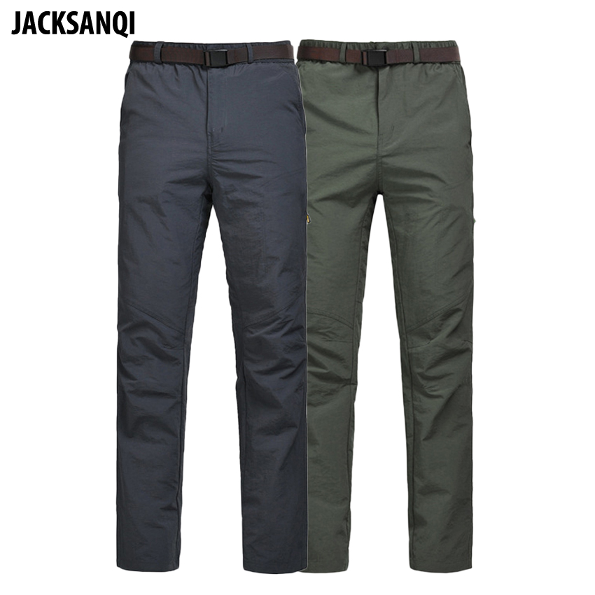 JACKSANQI Men's Summer Quick Dry Pants Mens Softshell Outdoor Breathable Hiking Trekking Fishing Camping Male Trousers RA078