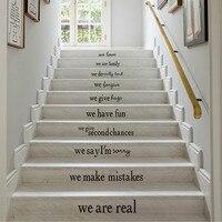 אנגלית חוקי הבית בבית הזה משלי מדבקות קיר לסלון מדרגות בית טפט דקור נשלף DIY מדבקות קיר