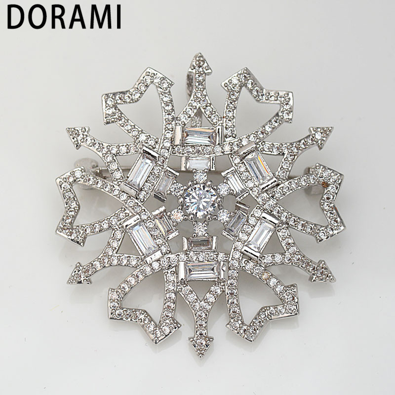 DORAMI Lucky Love Brooches for women Hot selling High quality Birthday present Fine Jewelry for gift Two color