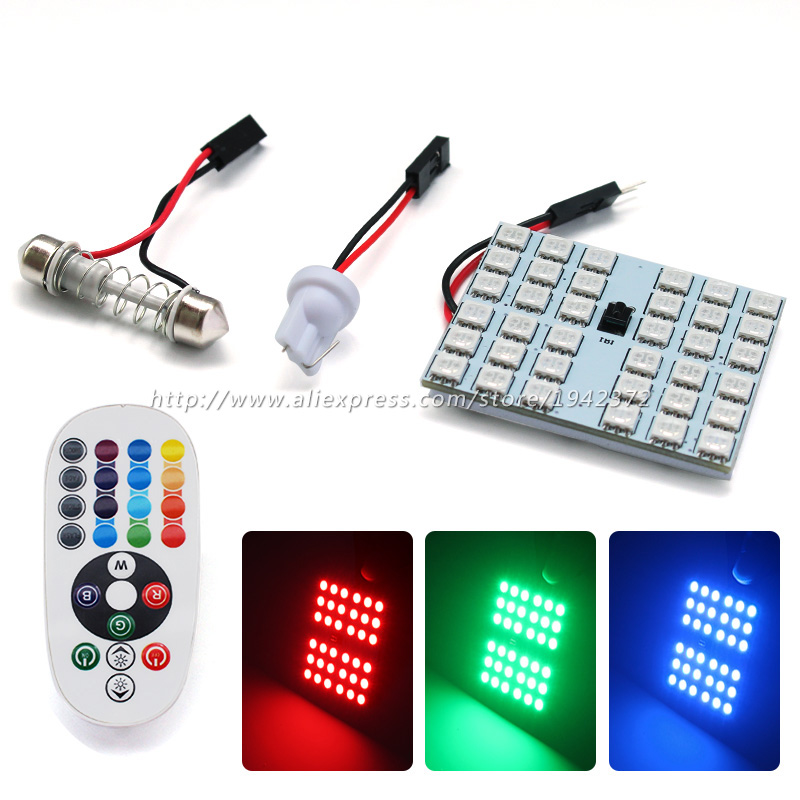2PCS 36SMD 5050 LED Saving Bright Panel Dome Lamp Auto Car Interior Reading Plate Panel Light Roof Ceiling Wired Lamp Festoon guangdian car led light auto interior light kit roof vanity light glove foot trunk cargo lamp t10 festoon for kia ceed 2006 2015