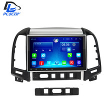 2G 32G optional android 6.0 car gps multimedia video radio player in dash for HYUNDAI Santa fe 2005-2012 year navigation stereo