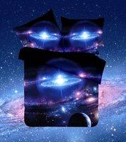 2017 새로운 갤럭시 침대 세트 다채로운 별 화려한 독특한 디자인 트윈 퀸 전체 우주 우주 테마