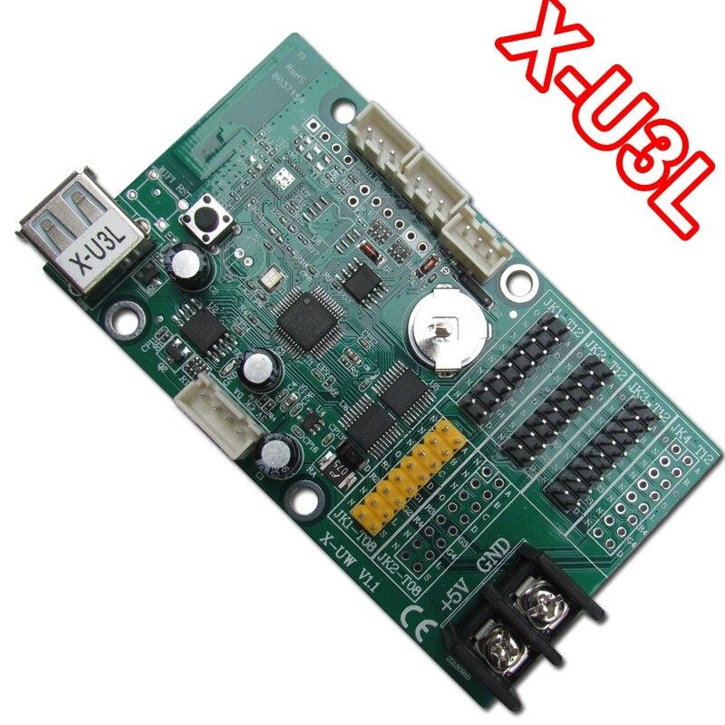 X-U3L USB порт беспроводной 672*48 пикселей одиночный/двойной цветной светодиодный экран дисплей карта управления прокрутка сообщение светодиодный доска для вождения