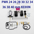 shipping PWK 24 26 28 30 32 34 36 38 40 mm KEIHIN KOSO motorcycle Carburetor carburador repair kit with spare jets sets