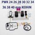 Gratis PWK 24 26 28 30 32 34 36 38 40mm KEIHIN Carburador KOSO motocicleta carburador kit de reparación con jets piezas conjuntos