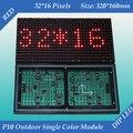 2 шт. / lot 320 * 160 мм 32 * 16 пикселей для из светодиодов экраны и из светодиодов знаки P10 на открытом воздухе красный цвет светодиодный дисплей модуль