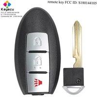 Chave esperta do carro de controle remoto da entrada keyless de keyecu com 3 botões & 433.92 mhz fob para nissan rouge 2014 2017 fcc id: s180144105|Chave do carro| |  -