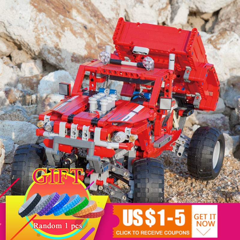 3362 1053pcs Technical 2 in 1 Pickup Truck Toy Compatible with 42029 Model Building Block Car SUV Off-road Kid Gifts Toys 608pcs race truck car 2 in 1 transformable model building block sets decool 3360 diy toys compatible with 42041