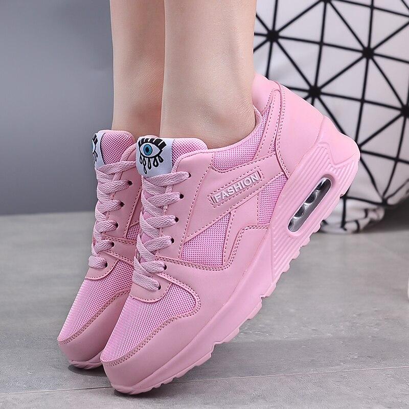 New Women Vulcanize Shoes Fashion Sneakers Women Flats Walking Shoes Outdoor Casual Women Shoes Lace Up Ladies Shoes Size 35-44
